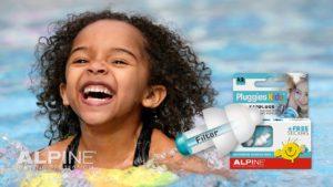 Alpine Pluggies Kids ørepropper til børn i svømmehallen