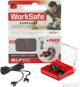 Alpine WorkSafe ørepropper pakke