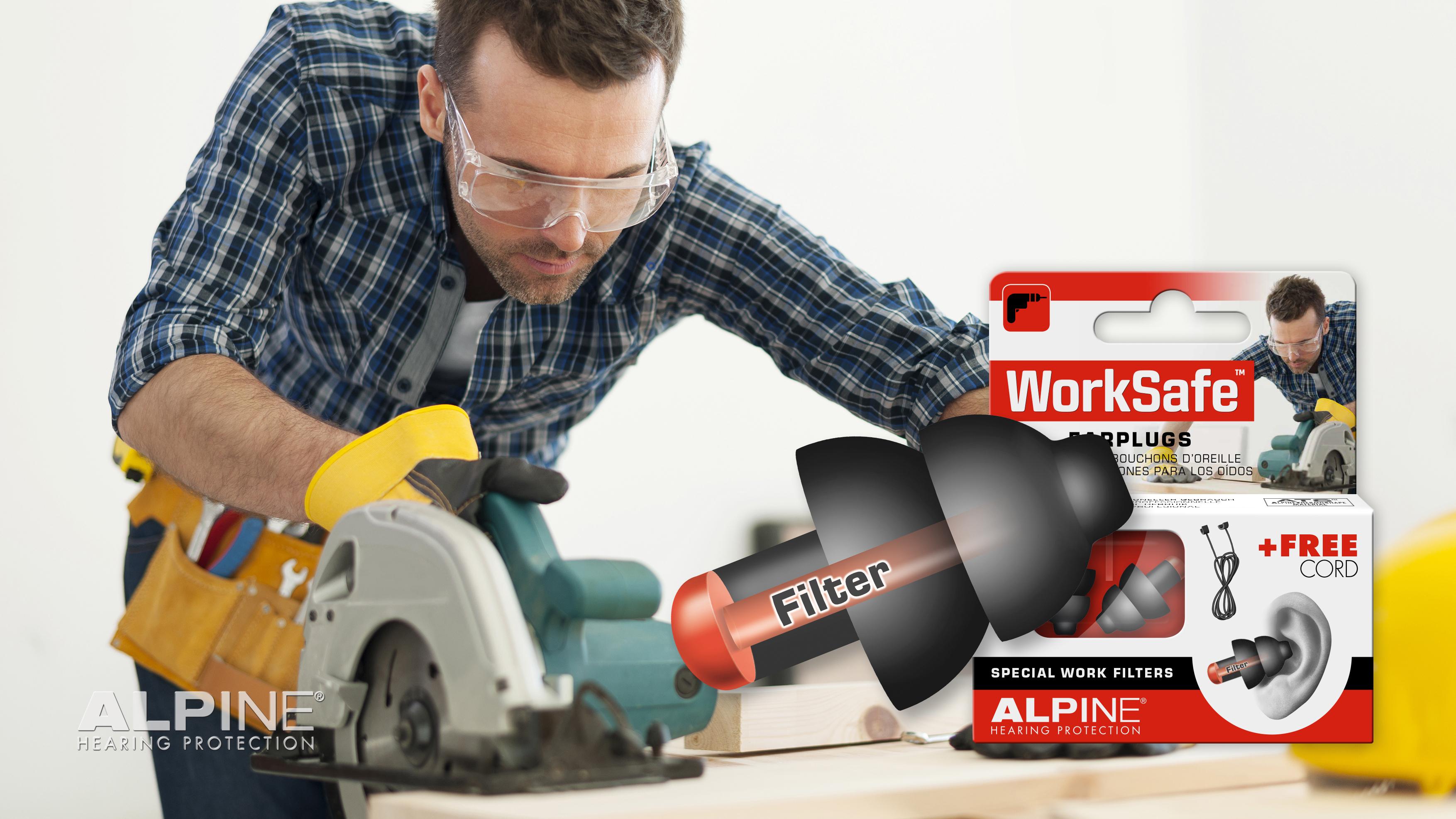Alpine worksafe ørepropper høreværn