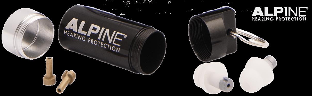 Alpine Travelbox Deluxe - opbevaringsæske til ørepropper og ekstra filtre